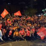 Comemoração na noite da confirmação da minha eleição como o 5 vereador mais votado de Porto Alegre